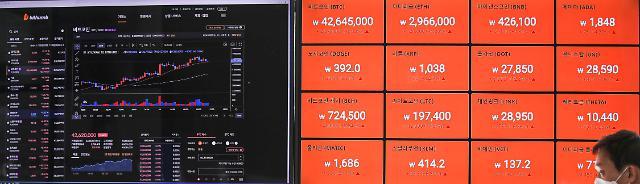 비트코인 4300만원대…이더리움·도지코인 각각 3%·0.4% 뚝
