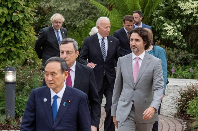 """[G7 정상회의] 일본 언론 """"바이든, 안전한 도쿄올림픽 지지 밝혀"""""""