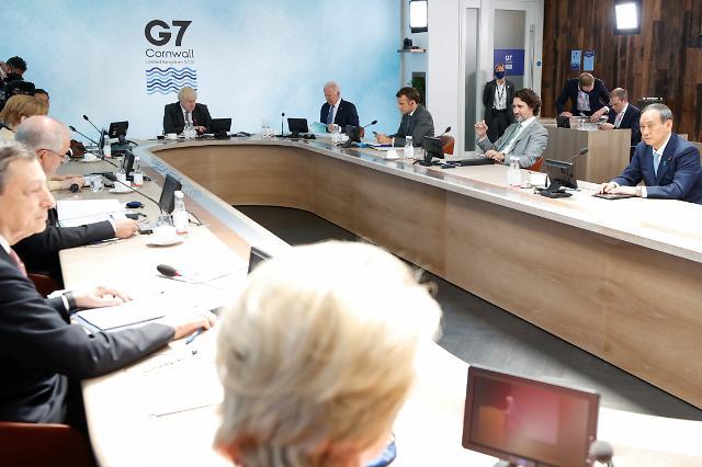 """G7 정상, """"코로나19 백신 10억회분 기부할 것"""""""