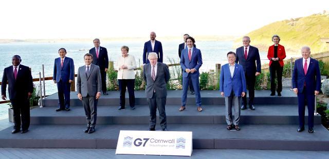 [포토] 문재인 대통령, G7 정상과 기념촬영