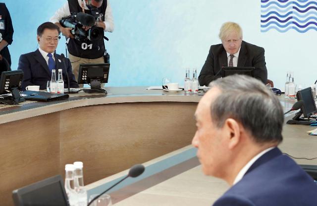 """일본 """"G7 한일 정상회담 일방 파기, 사실 아냐…한국에 즉각 항의"""""""