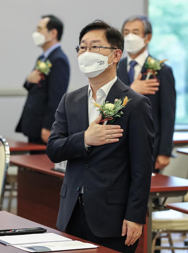 """박범계 """"검찰 직제개편안 이번주 마무리…김오수 만날 것"""""""