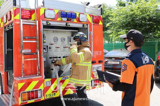 의왕소방, 화재·구조·구급대원 대상 상반기 소방전술훈련평가 펼쳐