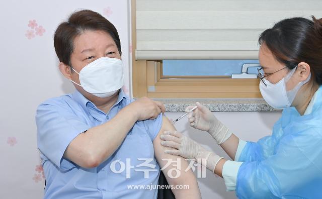 권영진 대구시장, 아스트라제네카 백신 2차 접종 완료