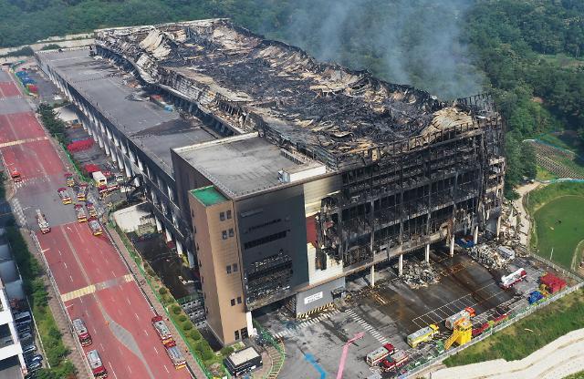 Coupang物流中心大火过后犹如爆炸现场