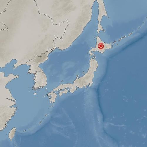 일본 홋카이도 삿포로 동북동쪽서 규모 5.4 지진 발생