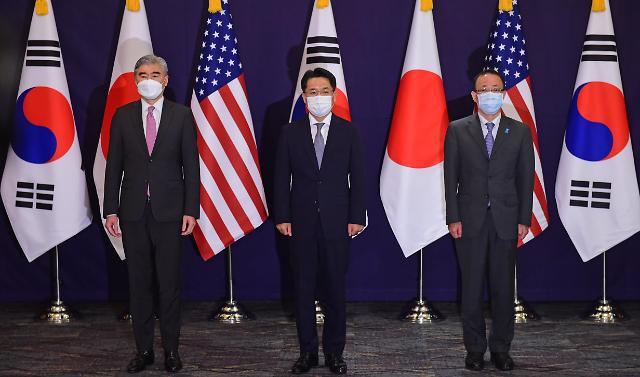 [포토] 한·미·일 북핵수석대표 협의 참석한 각국 대표들