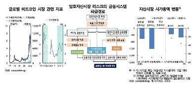 [한은 금안보고서] 비트코인 가격 급락? 금융시스템 영향에 제한적