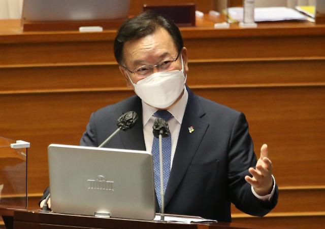 """김부겸 """"5년 단임제 고민 있어야...국회가 결론내달라"""" 요청"""