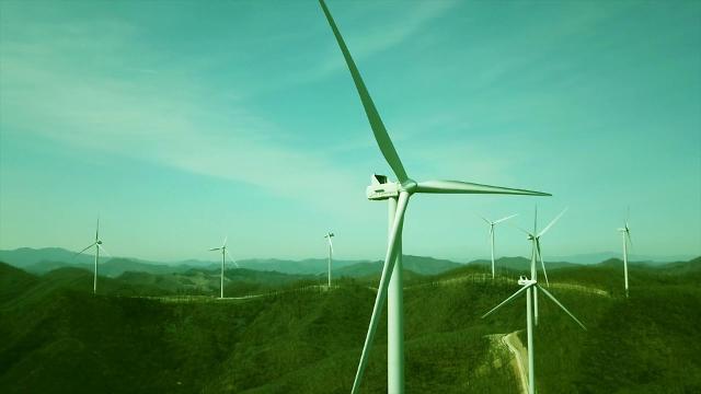 코오롱글로벌, 국내 첫 주민참여형 태백 가덕산 풍력 준공식 진행