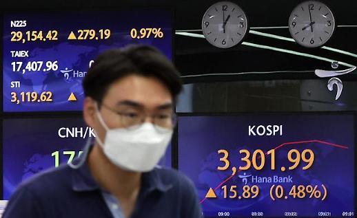 KOSPI指数历史首次突破3300点