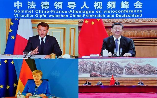 중국·유럽 긴장 고조 속 시진핑, 메르켈·마크롱과 화상회담