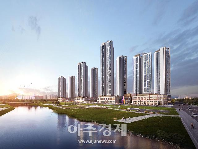 반도건설, 고덕신도시 중심지에 45층 주거형 오피스텔 유보라 더 크레스트 9일 오픈