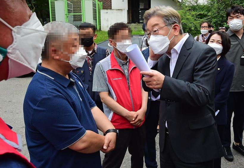 '청소노동자 사망' 서울대 찾은 이재명