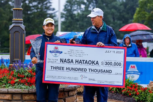 악천후로 중단된 마라톤 클래식…하타오카 나사 우승