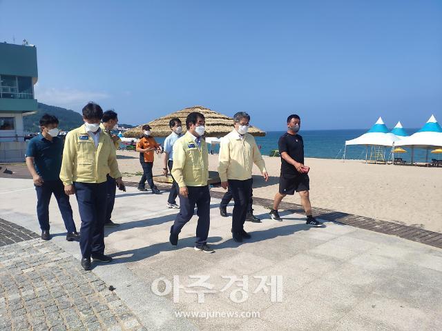 경북도, 해수욕장 개장 전 안전관리·코로나19 방역 등 현장점검