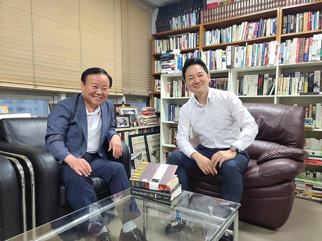 """김재원 """"'DJ적자' 장성민에 대선 경선 출마 요청"""""""