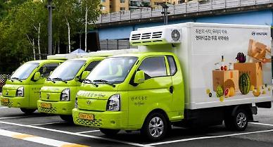 Hyundai auto group demonstrates urban delivery service using electric trucks