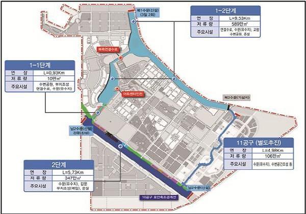 인천경제청, 송도 워터프런트 2단계 조성 본격화...오는 2027년 완공