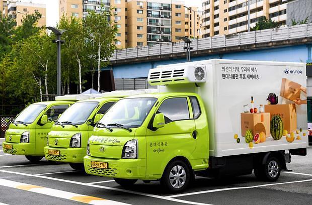 [NNA] 현대車, 포터 EV 신선식품 택배에 투입