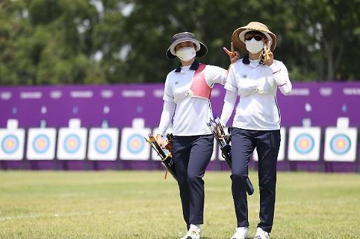 【东京奥运会】韩国射箭队赛前训练 向奥运首枚金牌发起冲击