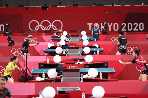 【东京奥运会】韩国乒乓球队进行赛前训练