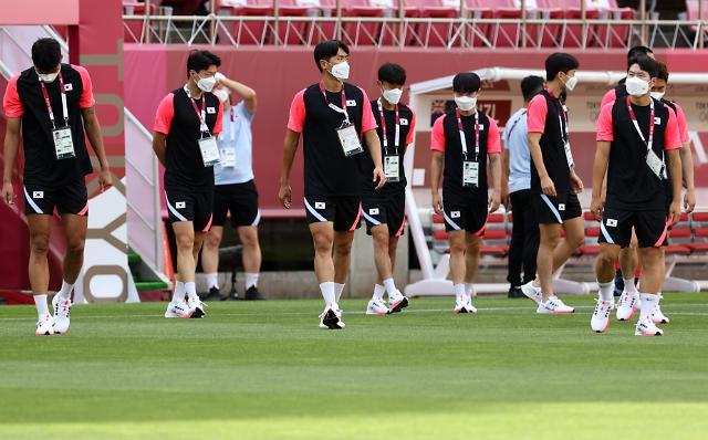 【东京奥运会】韩国男足训练忙 明日迎战新西兰