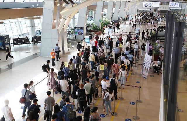 [포토] 여행 인파로 붐비는 김포공항