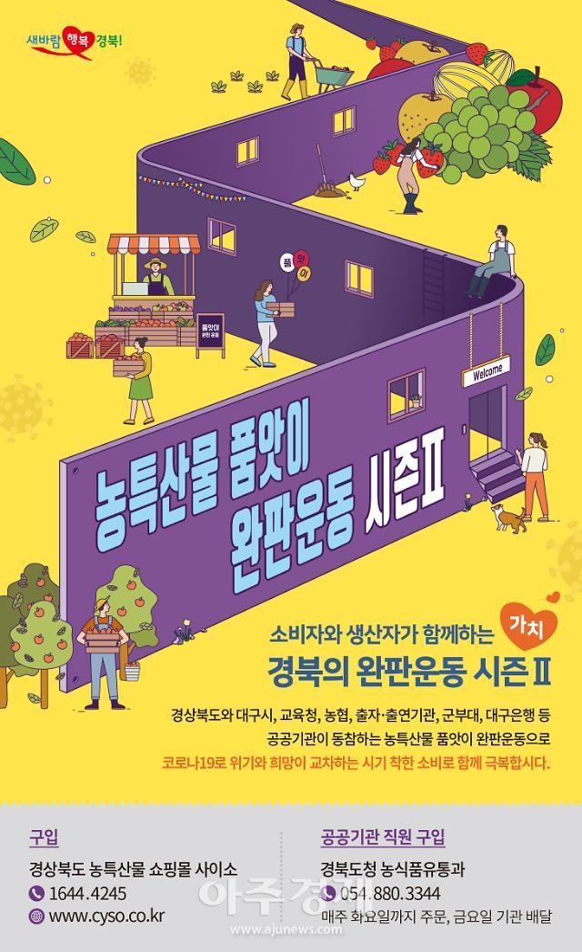 경북도, '농특산물 품앗이 완판운동 시즌Ⅱ'...판매액 150억원 돌파