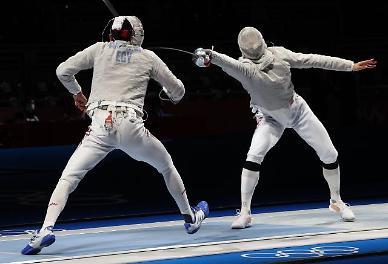 [도쿄올림픽 2020] 펜싱 사브르 세계 1위 오상욱 8강서 고배...조지아 선수에 패배