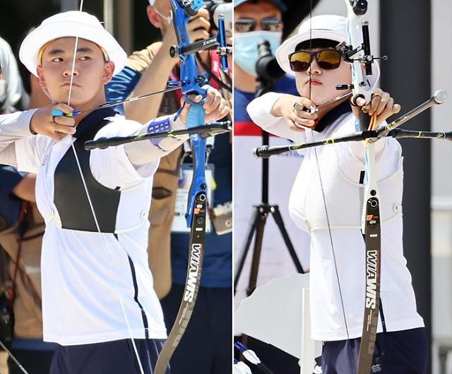 [광화문갤러리] 양궁 막내 혼성전서 한국 선수단 첫 금메달