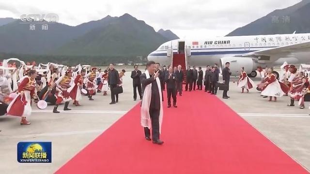 中 시진핑 주석, 티베트 시찰
