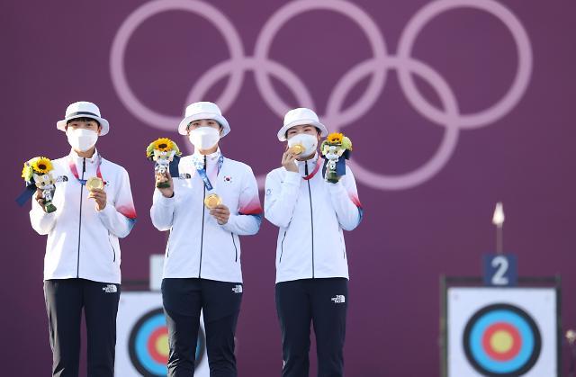 韩摘得东京奥运女子射箭团体赛金牌