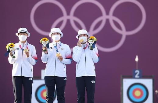 韩国队摘得东京奥运女子射箭团体赛金牌
