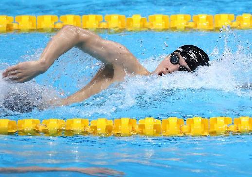 【东京奥运会】东京奥运200米自由泳预赛韩选手黄宣优破韩国纪录
