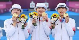 [2020東京五輪] 韓国、アーチェリー女子団体金メダル