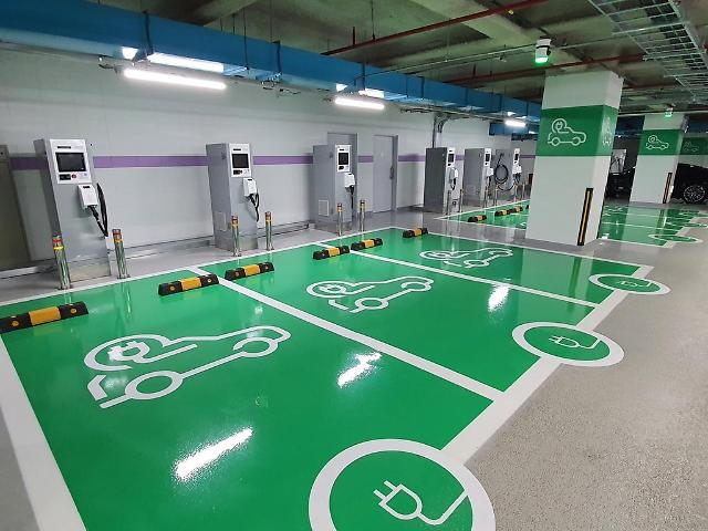 S. Koreas largest rapid-charging station for EVs kicks into operation