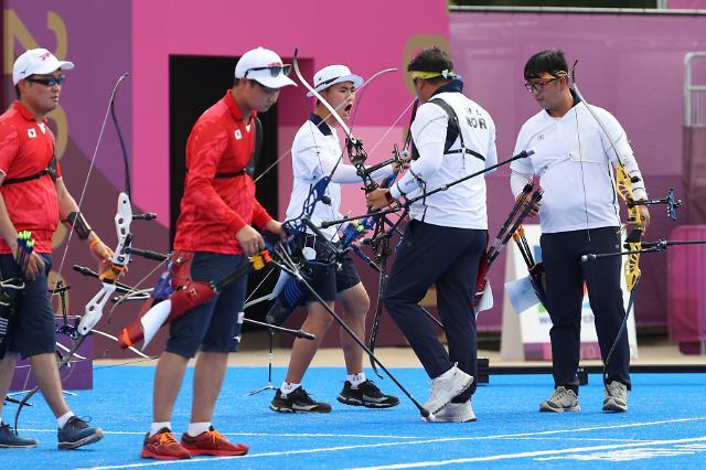 [도쿄올림픽 2020] 일본 누르고 금메달로 향하는 한국 남자 양궁