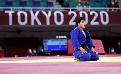 [도쿄올림픽 2020] 안창림 男유도 73kg 결승 실패...4연속 연장전이 패인