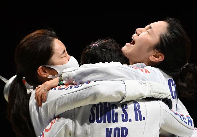 한국 女 펜싱, 에페 단체전 결승 진출