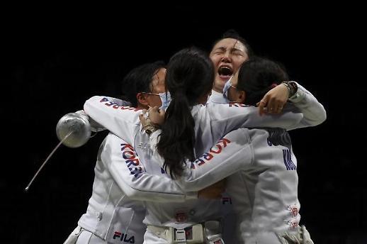 【东京奥运会】韩国女子重剑队挺进决赛