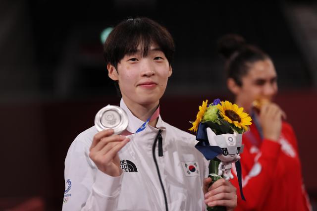 [도쿄올림픽 2020] 이다빈, 도쿄올림픽 태권도 은메달 (포토)