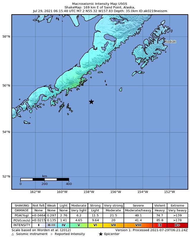 미국 알래스카서 규모 8.2 강진…하와이·괌 쓰나미 경보