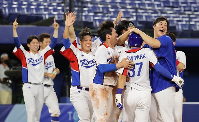 한국 야구, 이스라엘과 승부치기 끝에 6-5 승리
