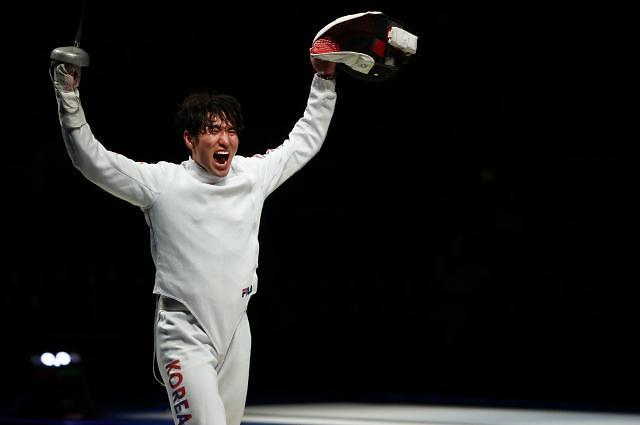 역전 활극 펼친 박상영, 준결승 상대는 일본
