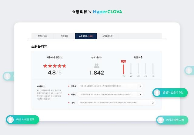 Navers online shopping service adopts AI system to simplify customer reviews