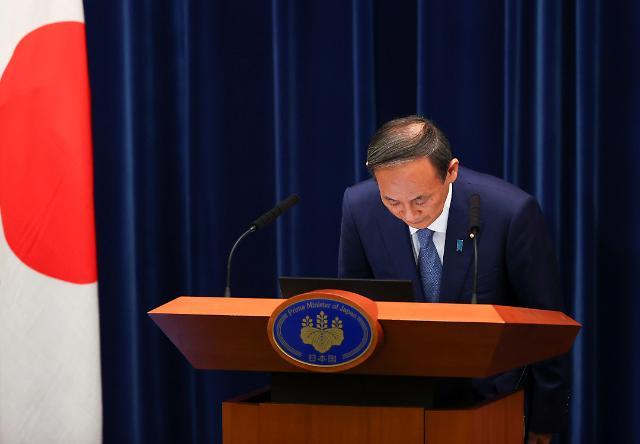[포토] 코로나 긴급사태 관련 기자회견 하는 일본 총리