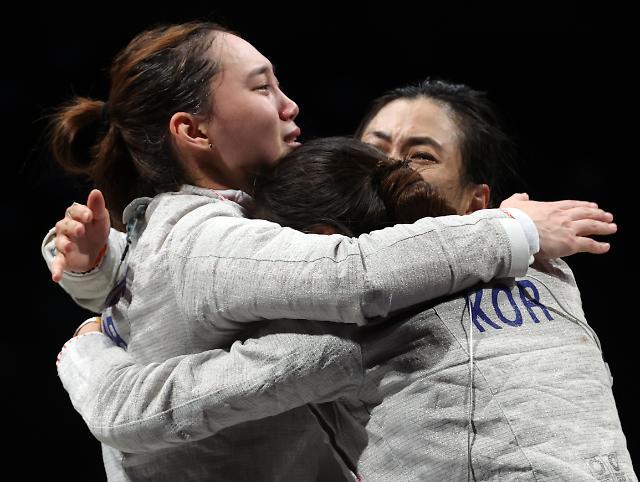 [도쿄올림픽 2020] 펜싱 女 사브르, 헝가리 꺾고 단체전 준결승 진출