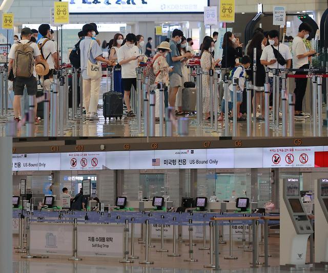 [포토] 붐비는 김포공항, 썰렁한 인천공항