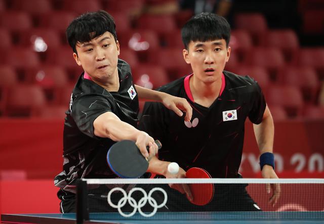【东京奥运会】韩国男乒团体赛挺进八强